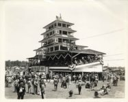 1920s ca Indianapolis Motor Speedway Pagoda 10″×8″ 42321 Kirkpatrick Photo Indianapolis IND front