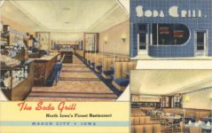 1940 ca. The Soda Grill MASON CITY, IOWA postcard front