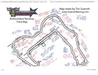 Buttonwillow Race Track by Tim Scarrott Map 11″×8.5″