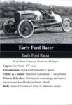 Early Ford Racer trading card