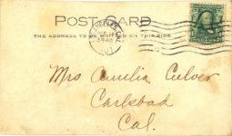 1907 9 11 ca. THATS A SMOKE NOT TEETH ALL SAME BARNEY OLDFIELD RPPC back