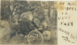1907 9 11 ca. THATS A SMOKE NOT TEETH ALL SAME BARNEY OLDFIELD RPPC front