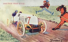 1908 3 25 THE PACE THAT KILLS Donadini, jr. comic postcard front