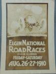 1910 8 26 27 Elgin National Road Races card eBay 5″x front