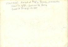 1911 3 31 ca CASE Pablo Beach, FL Races Lewis Strang driver 7″×4.75″ photo back