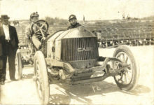 1911 3 31 ca. CASE Pablo Beach, FL Races Lewis Strang driver 7″×4.75″ photo front