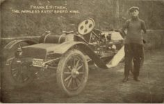 1913 10 5 FRANK E. FITHEN THE ARMLESS AUTO SPEED KING postcard front