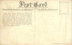 1913 ca. Frank E. Fithen armless racer Kraus Pub. New York postcard back
