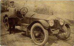 1913 ca. Frank E. Fithen armless racer Kraus Pub. New York postcard front