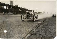 1913 STUTZ Indy 500 Driver and passenger photo Burton Historical Collection Detroit Public Library