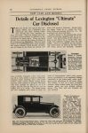 1922 13 LEXINGTON Details of Lexington Ultimate Car Disclosed AUTOMOBILE TRADE JOURNAL AACA Library page 60