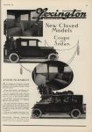 1922 9 LEXINGTON New Closed Models Motorl AACA Library page 93