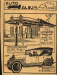 1922 LEXINGTON AUTO ALBUM By Tad Burness 3.5″×4.5″ AACA Library