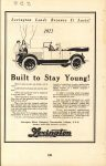 1922 ca. LEXINGTON Built to Stay Young ad 5.5″×8.25″ AACA Library page 128