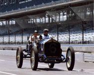 2019 8 1 SVRA Brickyard IMS 1910 National 40 racer CDT and Mechanician Koeppe 2 IMS photo