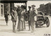 1908 Glidden Tour E L Ferguson Joan Cuneo Louis Disbrow and Dai Lewis photo Burton Historical Collection Detroit Public Library