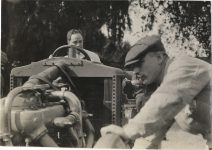 1908 RENAULT Grand Prize Races Louis Strang in Renault racecar photo Burton Historical Collection Detroit Public Library
