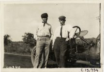 1910 MARMON Vanderbilt Cup Races MARMON Car 25 driver Joe Dawson and mechanic Came in 2nd photo Burton Historical Collection Detroit Public Library