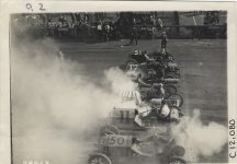 1911 Brighton Beach Races Racecars waiting at starting line photo Burton Historical Collection Detroit Public Librar