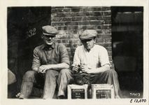 1911 NATIONAL Fairmount Park Races National team Johnny Aitken, Sidney the Pig, Don Herr photo Burton Historical Collection Detroit Public Library