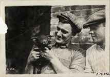 1911 NATIONAL Fairmount Park Races National team Sidney the Pig, unknown guy, Don Herr photo Burton Historical Collection Detroit Public Library