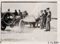 1911 NATIONAL Jacksonville Races Driver and officials with National racecar photo Burton Historical Collection Detroit Public Library