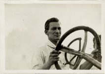 1911 ca. NATIONAL driver Len Zengle photo Burton Historical Collection Detroit Public Library