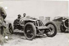 1913 KEETON Indy 500 Bob Burman and passenger in Keeton racecar photo Burton Historical Collection Detroit Public Library