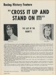 1929 ca. Racing History Feature CROSS IT UP AND STAND ON IT THE LAST OF THE FRONTYS CAR CLASSICS AUGUST 1972 8.25″×11″ page 37