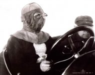 1911 CASE Indy 500 Bill Jones driving mask IMS Photo
