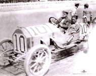 1911 STUTZ Indy 500 Qualifications Gil Anderson Car 10 left exhaust side IMS Photo