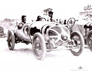 1912 CASE Indy 500 Eddie Hearne Car 6 IMS Photo