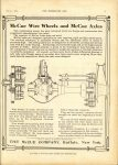 1912 7 31 McCUE McCue Wire Wheels and McCue Axles THE HORSELESS AGE 9″×12″ page 1
