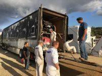 2019 9 28 5:25 pm Ironstone Concurs Murphys, CAL Ragtime Racers loading Shawn, Brian, Bill, Keopke