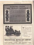 1902 11 26 DIAMOND CHAINS ARE ALWAYS RELIABLE THE HORSELESS AGE Automotive Research Library page 14