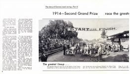 1913, 1914 & 1916 CORONA ROAD RACES CORONA CENTENNIAL 1886-1986 12″×9″ pages 8 & 9 a