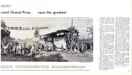 1913, 1914 & 1916 CORONA ROAD RACES CORONA CENTENNIAL 1886-1986 12″×9″ pages 8 & 9 b