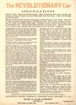 1921 LEXINGTON MINUTE MAN SIX introducing The REVOLUTIONARY Car Automotive Research Library Back cover
