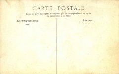 1905 7 5 Gordon Bennett Race France postcard back