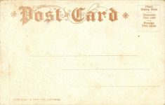 1909 ca. BUICK AUTO RACES WEEQUAHIC PARK NEWARK, NJ postcard back