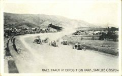 1910 RACE TRACK AT EXPOSITION PARK SAN LUIS OBISPO postcard front
