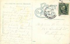 1910 ca. Giants Despair near Prospect Rock Wilkesbarre, Pa postcard back