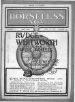 1913 4 30 RUDG-WHITWORTH WIRE WHEELS THE HORSELESSS AGE Automotive Research Library Front cover