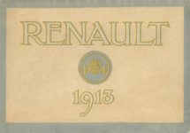 1913 RENAULT AUTOMOBILES RENAULT 1913 Automotive Research Library Front cover 1