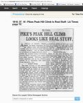 1916 7 16 PIKES PEAK HILL CLIMB LOOKS LIKE REAL STUFF LA TIMES screenshot