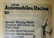 1916 Hudson Racer Automobiles Racing to ad 9 Andris Collection