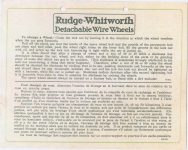 1917 ca. Rudge-Whitworth To Change a Wheel in English and French AACA Library side 1
