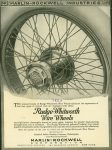 1920 Rudge-Whitworth Wire Wheels MARLIN ROCKWELL INDUSTRIES ad AACA Library