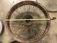 2020 1 24 1916 HUDSON RUDGE Type 62 Long 160mm Centre wheel 700mm across full view