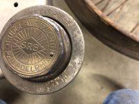 2020 1 24 1916 HUDSON RUDGE Type 62 Long 160mm Centre wheel hubcap 62